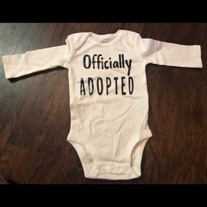 Officially Adopted Onesie- never worn